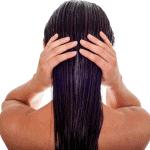 long wet hair