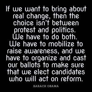 Barack Obama quote on real change