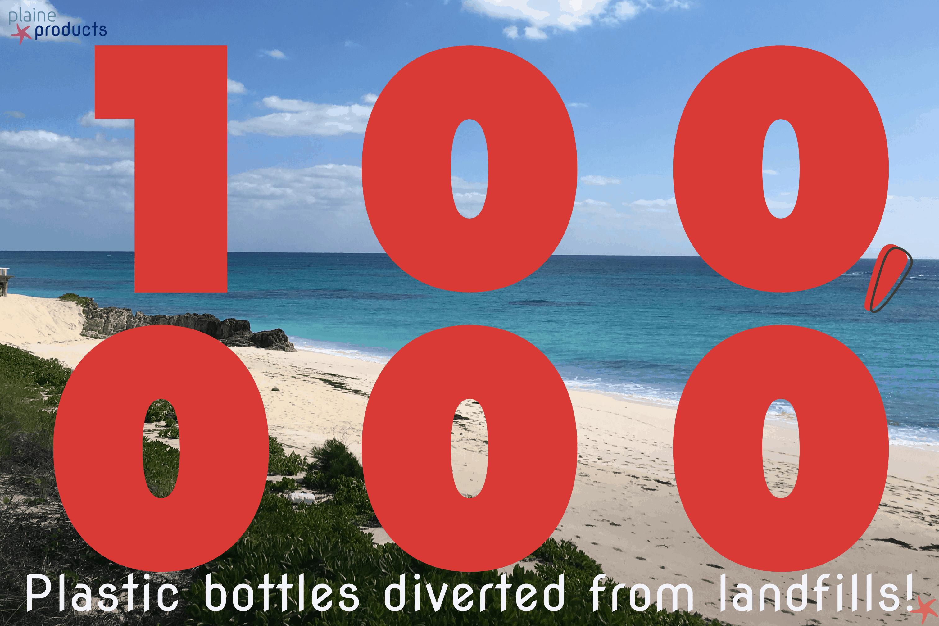 100,000 plastic bottles diverted from landfills!