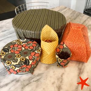 handmade beeswax food wraps