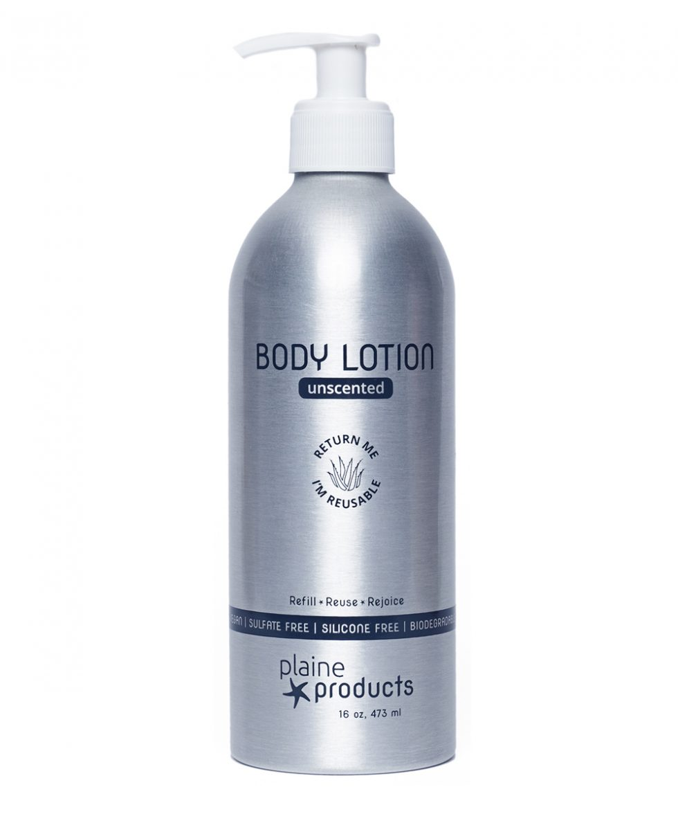 refillable body lotion unscented