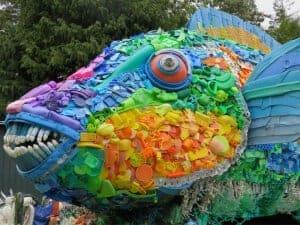 Plastic art parrotfish